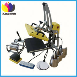 Auto combo 9 en 1 Mug Sublimation Transfert de chaleur multiples Appuyez sur la machine Tshirt Machine d'impression