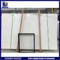 China Branco Puro/branco absoluto/Branco Cristal laje de mármore em pavimentações/painéis de parede/Bancada