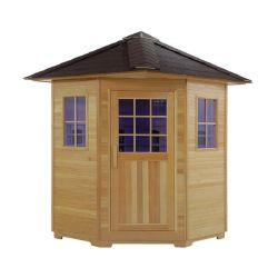 Far Infrarood Sauna cabine, Hemlock Hout Outdoor Sauna