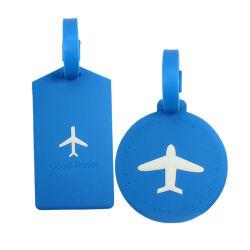 유명한 카드를 가진 PVC 수화물 부대 꼬리표 레이블 여행 짐 선박 여행 꼬리표