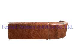 Commercio all'ingrosso di lusso di legno Italia cinese stabilita del cuoio genuino dell'annata della mobilia del salone moderno che pranza il sofà della sezione di Conner