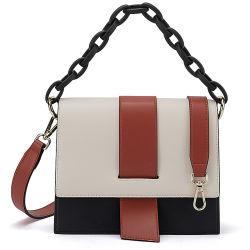 本革のファッション・デザイナーの肩のハンドバッグの女性のHandbag樹脂の鎖を持つ革トートバックの女性