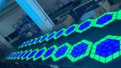 LED 3D 마술 입방체 벽 온난한 결혼식 쇼 나이트 클럽 바 배경막 빛