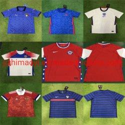 الجملة 2021 الموسم الجديد شيلي الفريق الوطني منزل بعيدا الملابس كرة القدم جيرسيز كرة القدم قميص ملابس