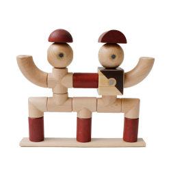 자석용 장난감 어린이용용 나무 블록 자석용 자석 세트 완구 24개, 자석용 나무 블록