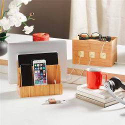 Новый держатель сотового телефона из бамбука для портативных ПК зарядной станции Dock для 4/5 / 6 порта зарядное устройство USB подставка для дисплея телефона высокого качества