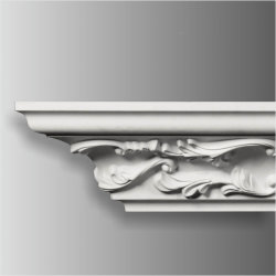 Coniatrice PU in poliuretano flessibile stile europeo vintage bianca Modanatura cornice per decorazione interna esterna