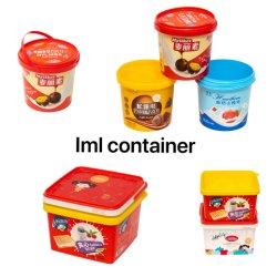Factroy OEM は、モールドの卸売食品コンテナペット IML をカスタマイズします ラベル容器ヨーグルトチョコレートビスケットミルクミルクミルクミルクティーフードカップ IML コンテナ