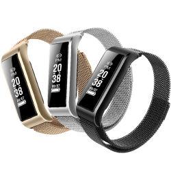 Bande de métal magnétique de 24 heures en continu de surveillance de bracelet à puce femelle