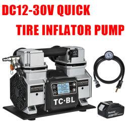 차량 배터리 클램프가 장착된 DC18V 타이어 인플레이터