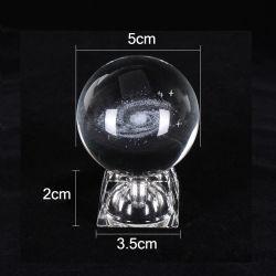 LED Magic Cuarzo claro Cristal transparente K9 decoración Natural 3D Bola de esfera de cristal grabada con láser