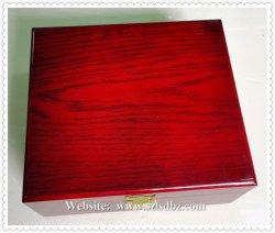Casella della cassa del regalo del tè dello scompartimento e caselle di legno solide di mogano ricche su ordine Handcrafted di immagazzinamento in le bustine di tè