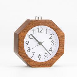 Kh-Wc023 дети восьмиугольника Silent Quartz деревянный стол и Таблица Analoge будильник