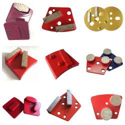 Diamond meulage des chaussures de plaquettes de meulage Trapèze Segment de meulage bloc outil abrasif pour plancher en béton