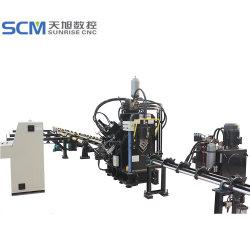 Marcação de ângulo do CNC máquina de corte e de perfuração