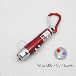 UVled keychain mit Laser-Zeiger (T2090)