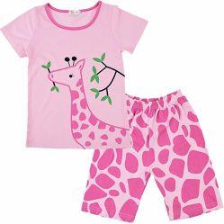 Pyjama's voor Meisjes Weinig Giraf Sleepwears van de Kleren van de Baby van het Jonge geitje