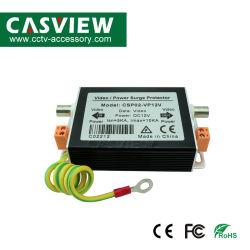 Vídeo e DC12V protector contra sobretensão 2 em 1 iluminação CCTV Protecção