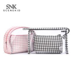 OEM multifunções profissional de alta qualidade claro espelho cosmético bag bolsa em PVC transparente Personalizada Whoelsale Saco de Lavagem