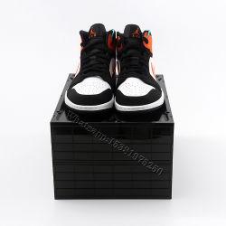 Comercio al por mayor zapatos personalizados de Verificación de almacenamiento de plástico claro descenso frente caja de zapatos Zapatos con el logotipo del organizador apilable Vitrina de zapatillas