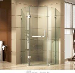 Безрамные алмазов душ с экрана из нержавеющей стали 304 петли ручки