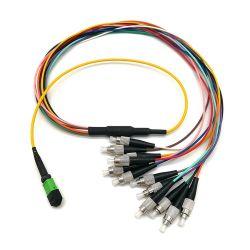 12 coeurs MPO/fibre optique de cordon de raccordement du PSG/MPO le connecteur