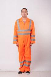Bande réfléchissante 100%polyester mince chiffon Vêtements de travail à la sécurité des travailleurs de la construction