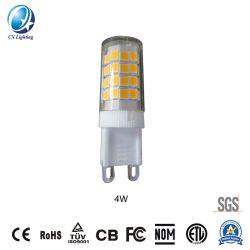 Epistar Perlas Lámpara LED E14 G9 4W 400lm 120V o 230V Ce RoHS 2700-6500K el plástico