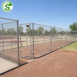 Omheining van de Tennisbaan van de Omheining van het Netwerk van de Draad van de Link van de ketting de Omheining Gegalvaniseerde