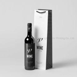 Één Zak van het Document van de Boodschappentas van de Rode Wijn van de Zak van de Wijn van de Fles Verpakkende Voor Wijn