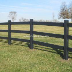Pas de rouille en PVC noir de qualité supérieure/vinyle Horse Ranch clôtures ferroviaire pour le bétail bovin Paddock