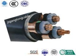 Drei Kern XLPE isolierte Stahlband-gepanzertes Kurbelgehäuse-Belüftung umhülltes Energien-Kabel