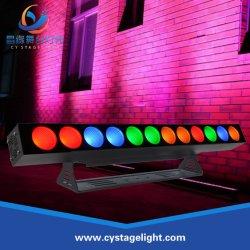 専門の屋内洗浄RGBWA 5in1 12X25W LEDマトリックス棒ライト