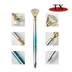 ダイヤモンドの真珠のBallpenを広告するためのロゴの水晶ギフトの球ペンのためのカスタム昇進の漫画のペン