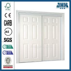 Jhk 84 inch 1-Panel modern wit hout schuur deur