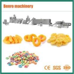 콘플레이크 퍼프 스낵 코어 채우기 음식 아침 시리얼 식물성 치즈 볼 팝콘 버글스 칩 빵 부스러기 만들기 기계 생산 라인