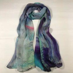 A impressão digital de tecido de poliéster lenço Chiffon Lenço Personalizado