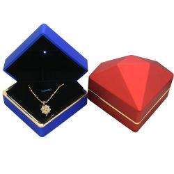 Azul Rojo Rombo Pulsera Anillo Brithday caja para regalo de Navidad presente