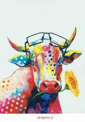جذّابة حيوانيّ بقية [أيل بينتينغ] جدار فنية. نوع خيش فنّ [أل-200601] حجم [18إكس24] بوصة