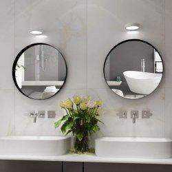 Moderner Art-Metallrahmen-Spiegel-Schwarzes Gloden Farben-Badezimmer-Spiegel für HauptHote Dekoration