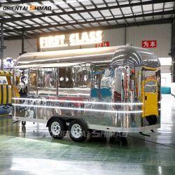 스테인리스 스틸 이동식 Concession Airstream 스낵 패스트푸드 트레일러 캠핑 여행 트레일러