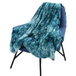 도매 & 고객 사이즈의 저렴한 실크 Big Cozy Plain 가중 플러시 PV Fleece 청키 킹 사이즈 니트 담요를 던졌습니다