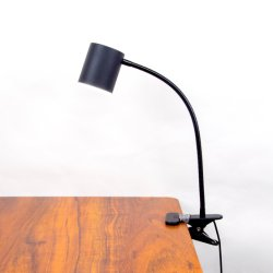 LED de fechamento horas de luz com alumínio, pescoço de cisne candeeiro de mesa com braço flexível