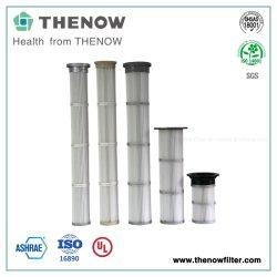Cartucce pieghettate lunghe pulite di filtro dell'aria di impulso nella pianta del pezzo fuso