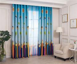 Современный детский карандаш печать тени занавески для жизни обеденный зал с одной спальней с одной спальней и мультфильмов затенения ткани свежий и стильный