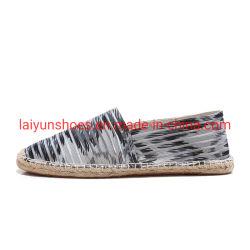 أحذية همب اليدوية الصنع ذات القنب المنخفض قطع شجر المرأة في ESPadrilles Loafer