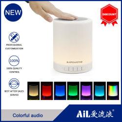 Kleurrijke LED-lamp voor nachtlicht Tik op draagbare draadloze Bluetooth-luidspreker