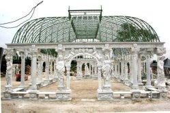 Outdoor Garden Decoratieve gesneden stenen beeldhouwkunst Marble Carving Gazebo (SYMG-018)
