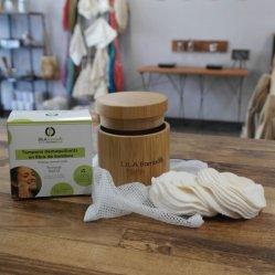 Removedor de maquillaje reutilizable electrodos rondas de algodón de bambú natural ecológica para todo tipo de piel