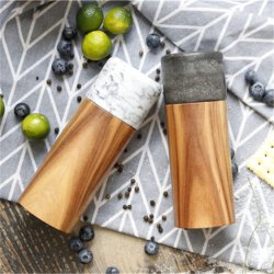 خشب الملح و جلاخة الفلفل اليدوي تعيين خشب السنط أنيق مطحنة الملح ومطحنة الفلفل